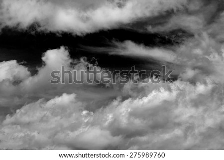 Black and White sky with clouds