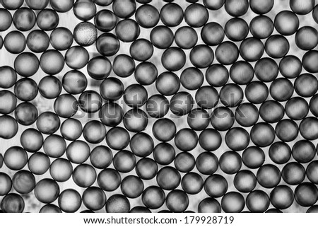 Black and white small balls abstract with delicate texture on the balls