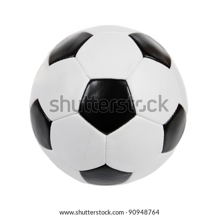 black and white soccer ball on the white background. (isolated)