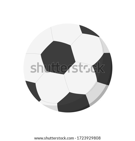 Black and white soccer ball. Sports equipment, match, game. Can be used for topics like championship, football, training Stockfoto ©
