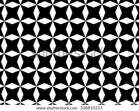 Black and. White star shape background texture pattern