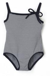 Black and White Stripe Swim Suit