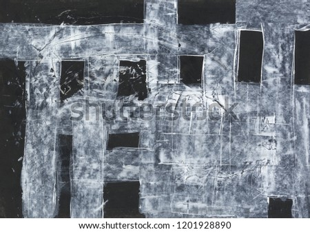 Black and white striped background. Acrylic texture. #1201928890