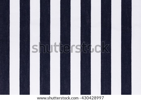 Black and white stripes fabric closeup, fabric background texture