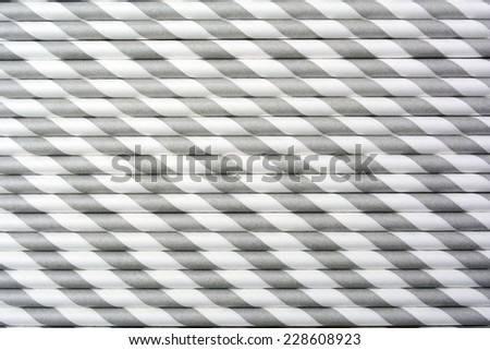 Black and White Strips Party Paper Straws Background Pattern