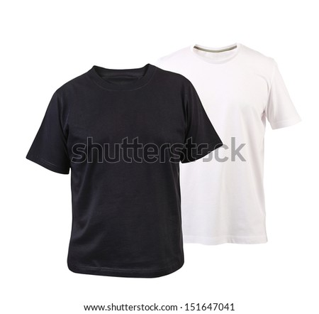 Black and white T-shirt.