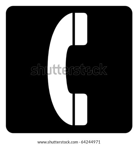 Black and white telephone boot sign