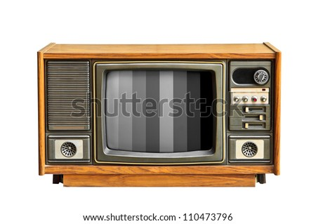 Black and white television.