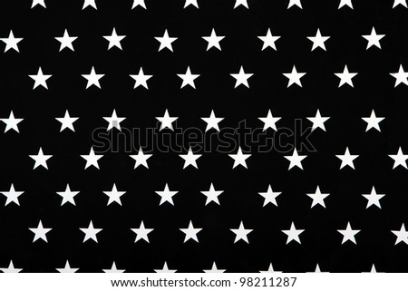 Black and white texture with five-pointed stars