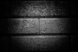 Black and white textures of square concrete cement, grungy, embossed, so Contrast, so grainy