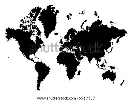black and white triangles world map