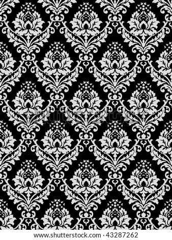 Black and White wallpaper. Classical Style