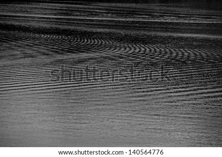 Black and white water ripple.