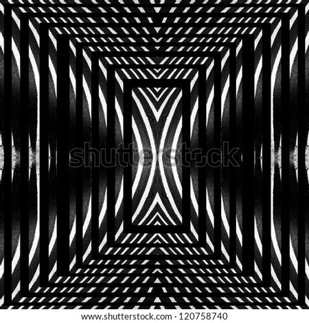Black and white zebra fur abstraction