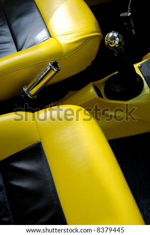 black and yellow car interior stock photo 8379445 shutterstock. Black Bedroom Furniture Sets. Home Design Ideas