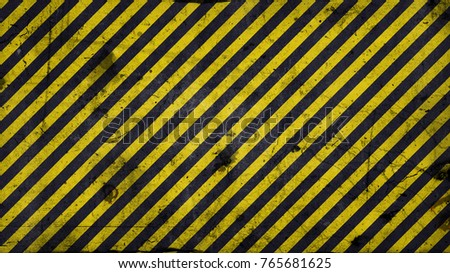 Black and yellow diagonal lines - warning lines - useful like grunge background ratio 16:9