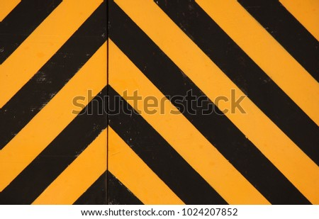 BLACK AND YELLOW PAINTED CHEVRON PATTERN  #1024207852