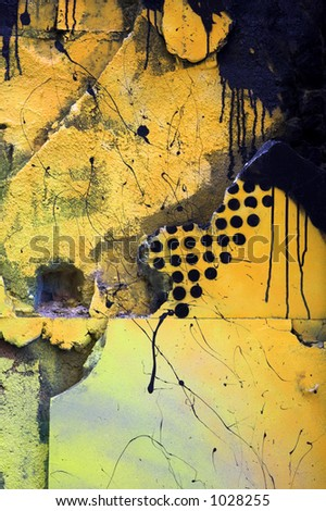 Black and yellow wall. Interesting texture.