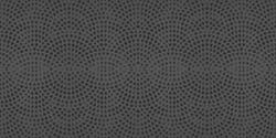 Black anthracite gray retro tile with stamp art design geometric circle motif print texture background