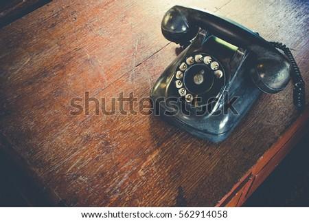 black antique vintage analog...