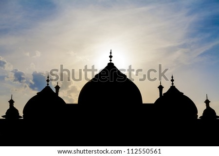 black arabian mosque silhouette