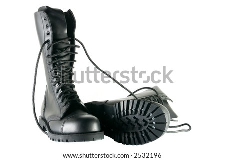 Army Shoes Pics Black Army Shoes Isolated on