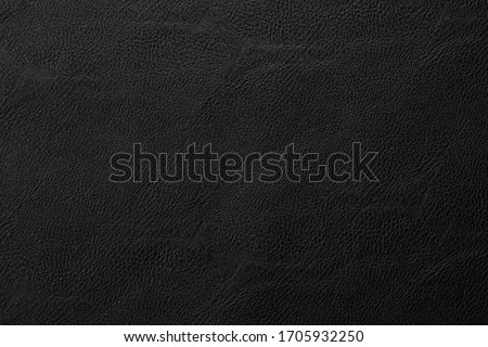 black artificial leather with waves and folds on PVC base Foto stock ©