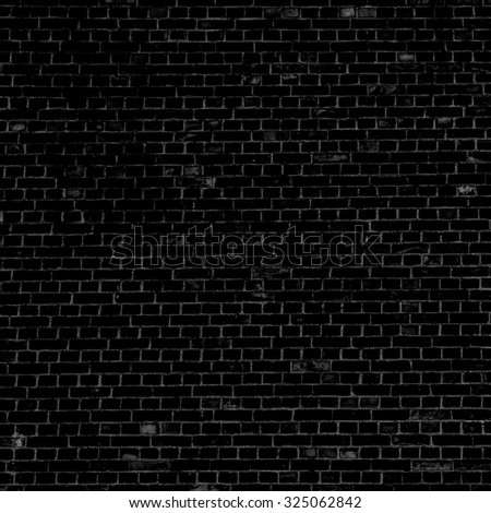 black background brick wall texture background - Shutterstock ID 325062842