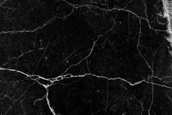 black background cracked wall texture broken marble slab, abstract lines pattern distressed background