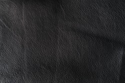 Black background from genuine leather.