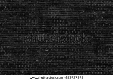 black background old brick wall texture - Shutterstock ID 653927395