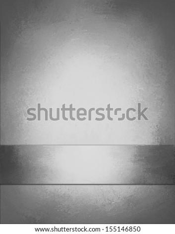 black background or luxury gray background abstract white center light and vintage grunge background texture, black and white background for printing monochrome brochure, web ad, elegant dark gradient