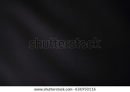 Black background texture of black fabric cloth. Black and white picture of matter. - Shutterstock ID 636950116