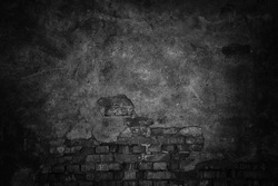 black background wall, abstract dark texture for design