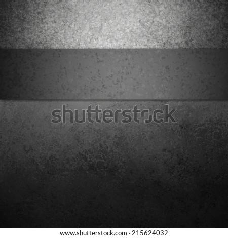 black background with black ribbon stripe, elegant vintage grunge background textured black painted wall
