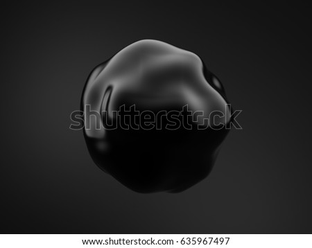 Black background with 3d shape. 3d illustration, 3d rendering.