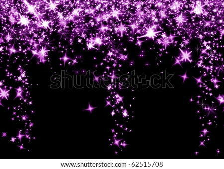 Black Background with purple stars