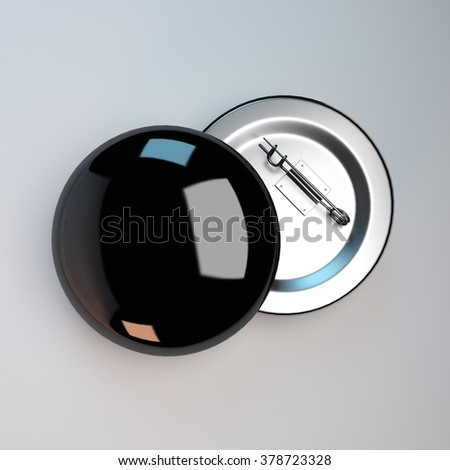 black badge pin brooch mock-up