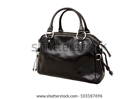 Black bag isolated