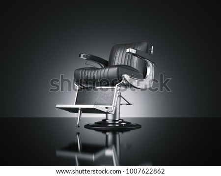 black barbershop chair isolated ...