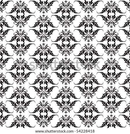 black baroque pattern on white also available in vector