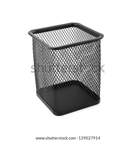 black basket on a white background