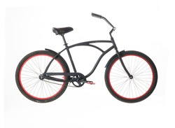 Black Beach Cruiser isolated on white background