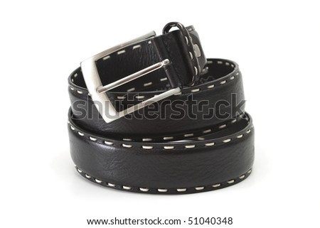 Black belt isolated on a white background.