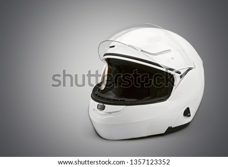 Black biker helmet isolated on white background #1357123352