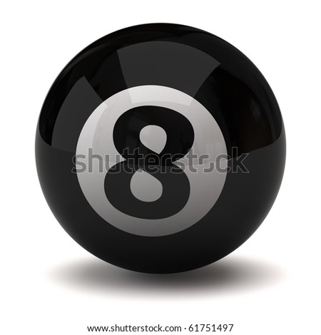 Black billiard ball number eight