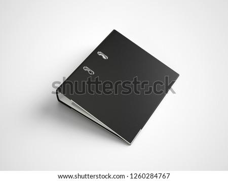 Black Binder File Folder