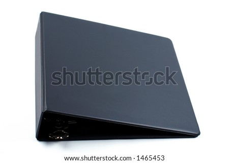 Black binder isolated on white background