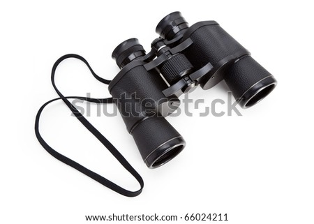 Black Binoculars with white background