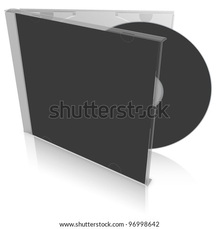 Black blank cd case and disc - put your own design on it!